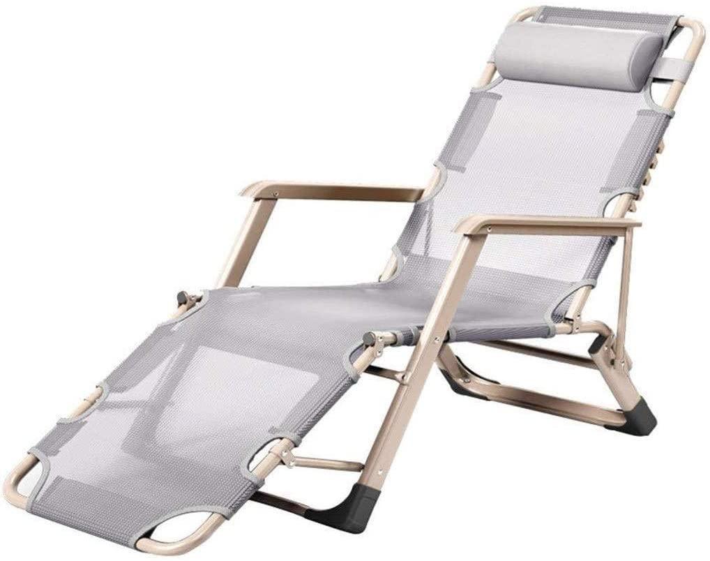 CHENJIU Lounge Chair Garden Armrest Recliner/Zero Gravity Recliner/Sun Bed/Nap Deck, Breathable Fabric, Detachable Headrest, Suitable for Garden/Balcony/Outdoor