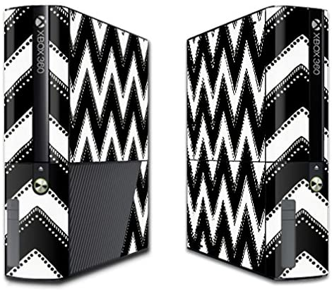 MightySkins Protective Vinyl Skin Decal for Microsoft Xbox 360E (3rd Gen) Cover wrap Skins Sticker Chevron Style