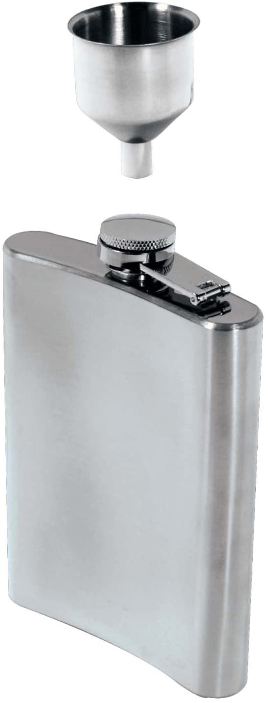 SE 8 oz. Stainless Steel Hip Flask and Funnel Set (2 PC.) - HQ90