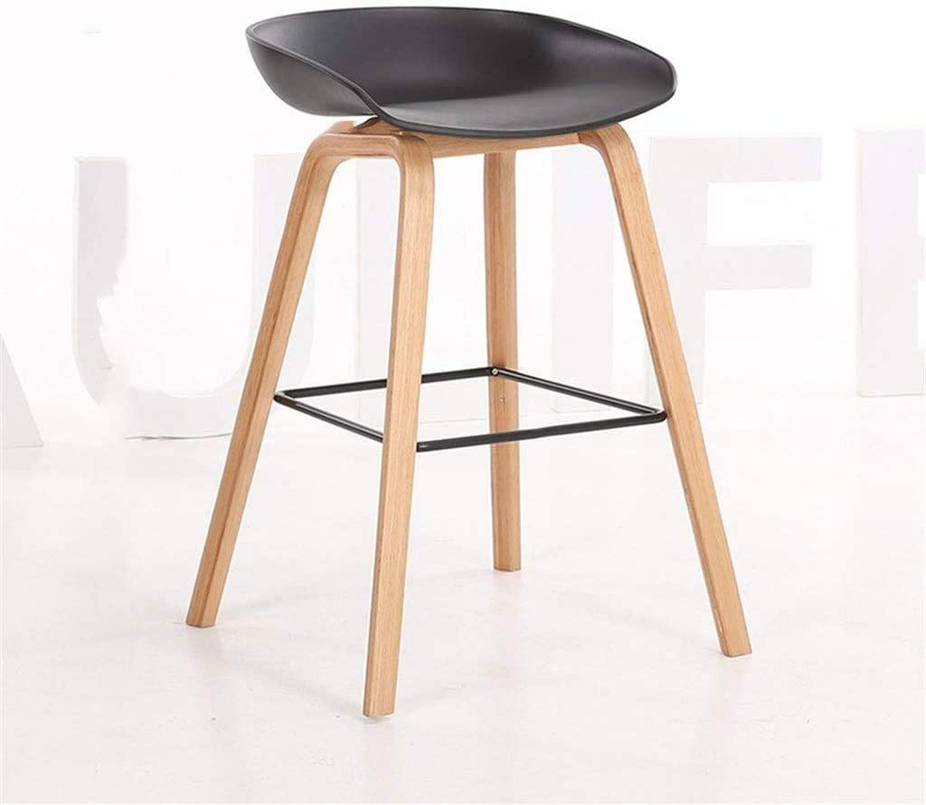 HOMRanger Comfortable Bar Chair Creative Dining Table Stool Bar Stool Home Living Room Balcony Stool Tea Shop Front Desk Chair with Wrought Iron Pedal Decorative Furniture (Color : B, Size : 64CM)