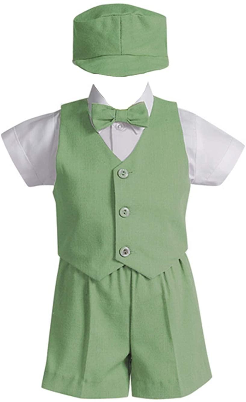 Lito Boys 6-12M Green Vest Short Formal Easter Ring Bearer Suit