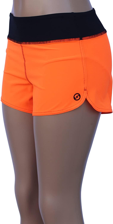 UN92 WC14 Women's Zest Fit Shorts, Neon Orange-12