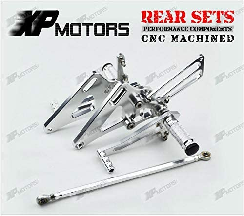 Frames & Fittings Silver Racing Adjustable Foot Pegs Rearset Footrest Rear Sets for Honda CB400 Super Four 1992 1993 1994 1995 1996 1997 1998 1999