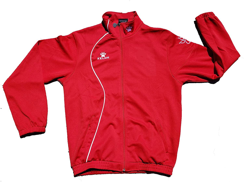 LEKA Soccer, Sport Warm up, Kelme Jacket. Track, Soccer, Any Sport. 90% Polyester, 10% Cotton. 2 Side Pockets