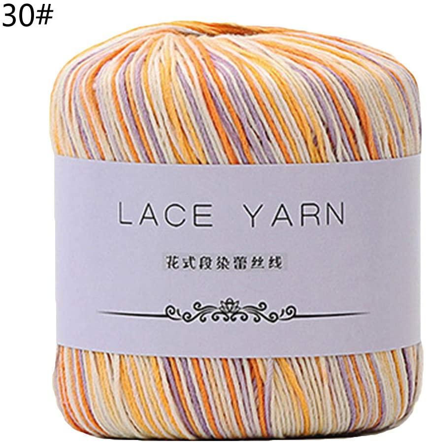 minansostey 1 Bundle 10 Strands Acrylic Hand Knitting,Yarn Lace Crochet,Thread Cord DIY Embroidery Needle Sewing Accessory
