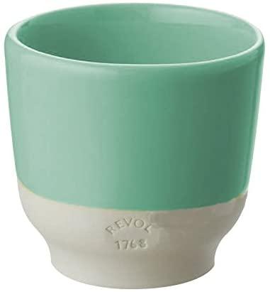 REVOL CLA1008 Set of 4 espresso cups, 2.75 oz, Celadon Green