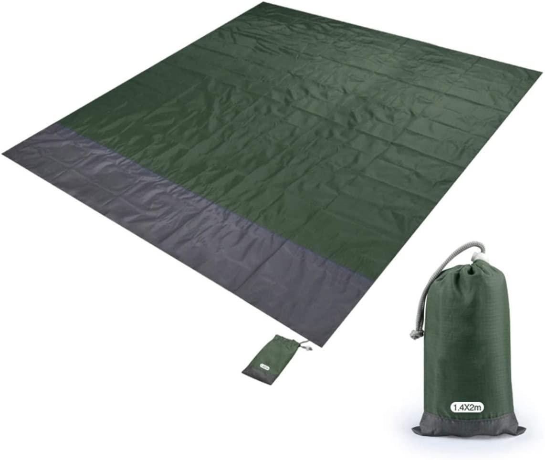 sweet smile Waterproof Beach Blanket Outdoor Portable Picnic Mat Camping Ground Mat Mattress Outdoor Camping Picnic Mat Blanket,Army Green,M