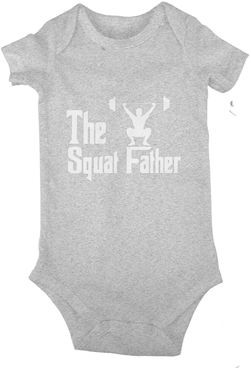 LzVong The Squat Father Cotton Baby Short Sleeve Bodysuits Jersey Rompers