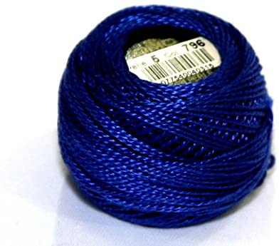 DMC Cotton Perle Thread Size 5 796 - per 10 gram ball