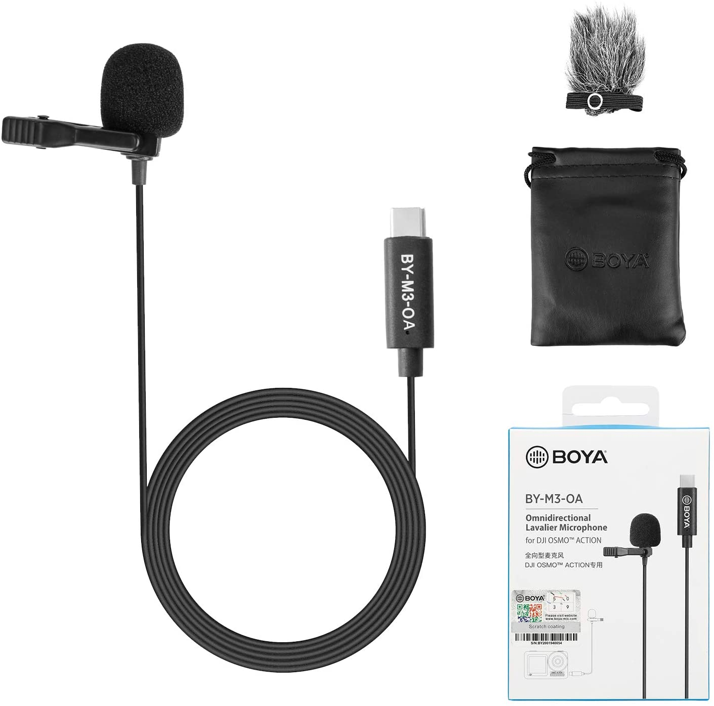 BOYA Plug & Play Omnidirectional Lavalier Microphone for DJI OSMO Action