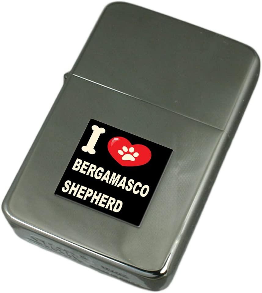 I Love My Dog Engraved Lighter Bergamasco Shepherd