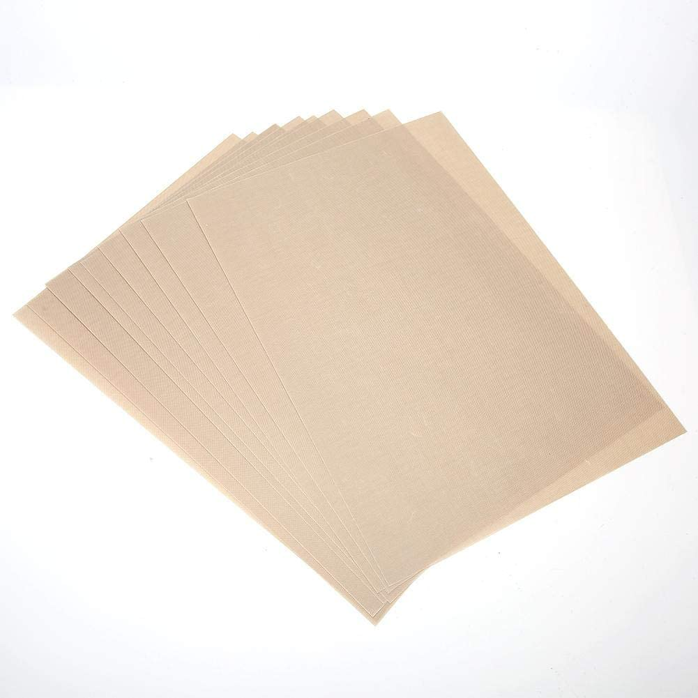 with Non-Stick Coating Safe Oven Mat, 10Pcs BBQ Mat, for Electric Oven BBQ