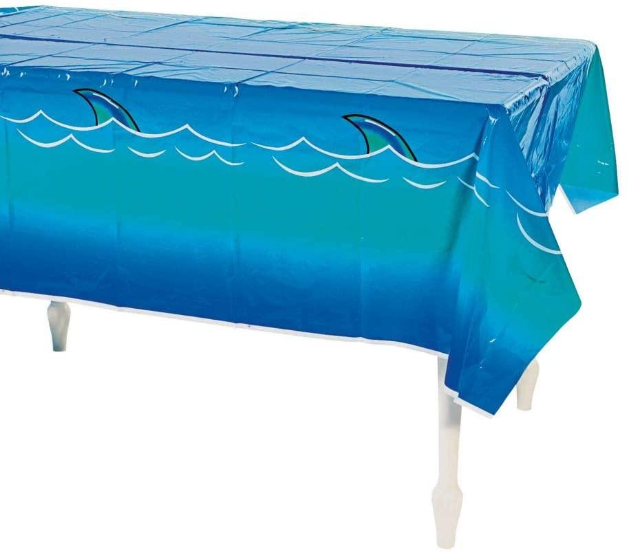Fun Express Shark Tablecloth (1 Piece) Plastic, 54