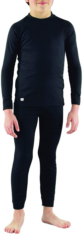 MEDALIST Boy's Performance Fleece Base Layer Crew Neck Top & Pant Set