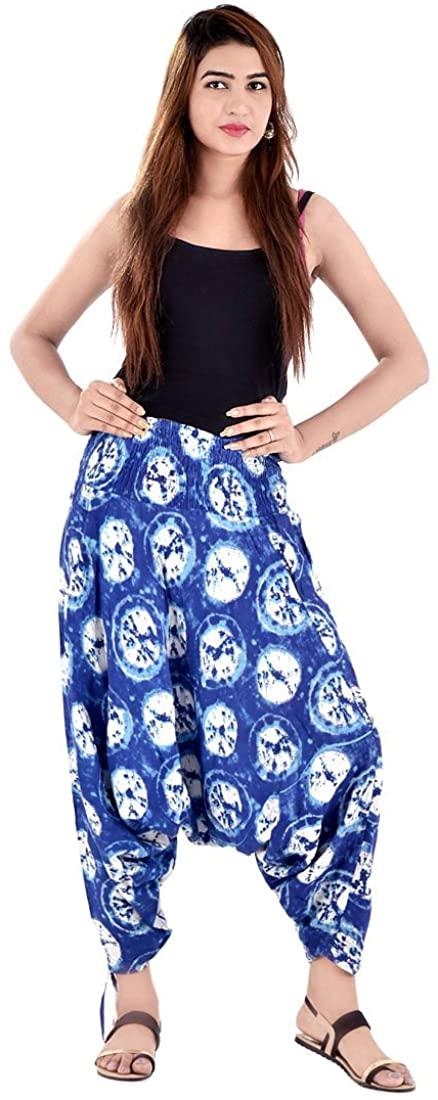 Indian Handicrafts Export Sanganeri Floral Printed Pure Cotton Harem Pants