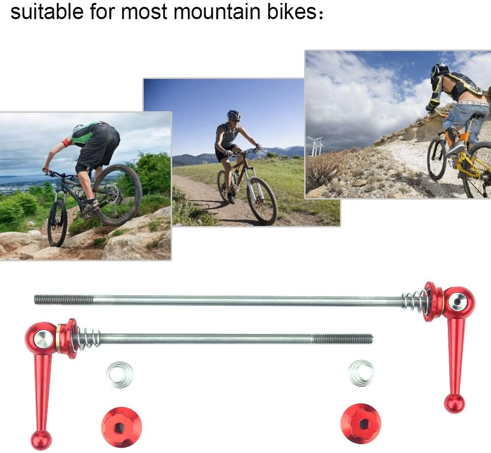 Vbestlife Bicycle Skewers 2Pcs Ultralight Titanium Alloy Quick Release Axle Skewers Set Bicycle Replacement Repair Parts Accessory for MTB Road Bike