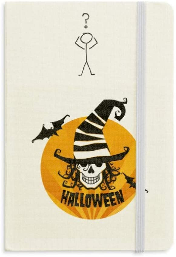 Skull Marker Wizard Hat Halloween Question Notebook Classic Journal Diary A5