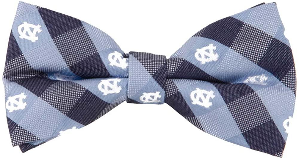 North Carolina Tarheels Checked Logo Bow Tie - NCAA College Team Logo