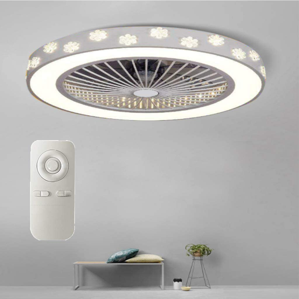 Fan Light Ceiling Fan Light Ceiling Lamp Modern Fashion Led with Remote Control Fan Light Home Bedroom Ceiling Fan Light Three Speed Wind Speed Three-Stage Dimming