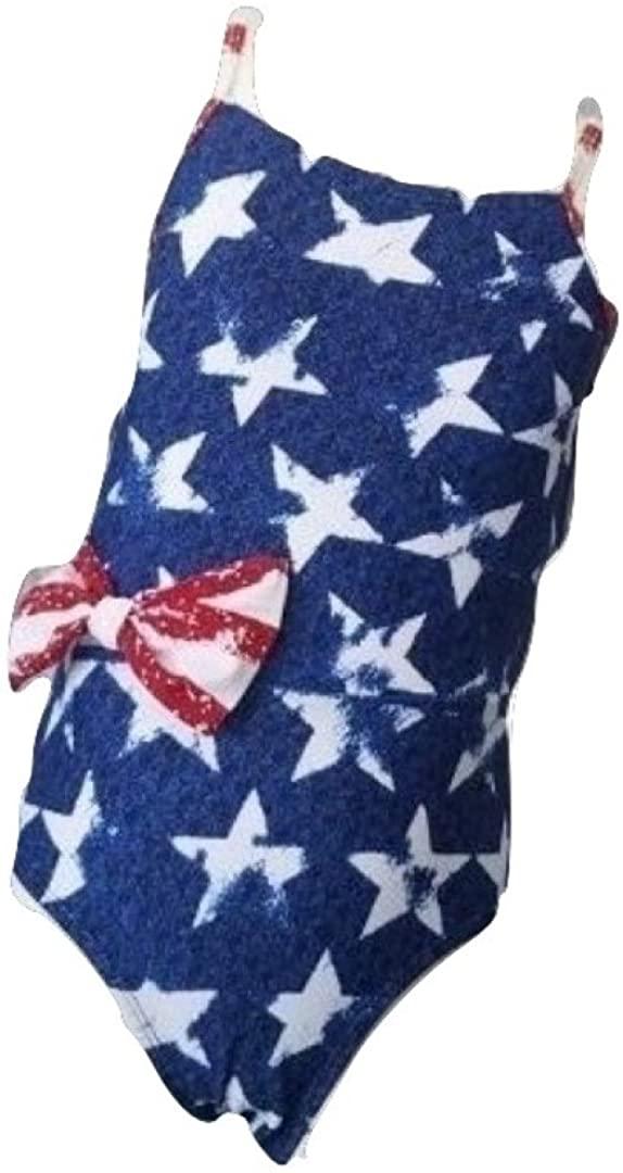 Celina 1 PC. Girls' American Flag Swimwear