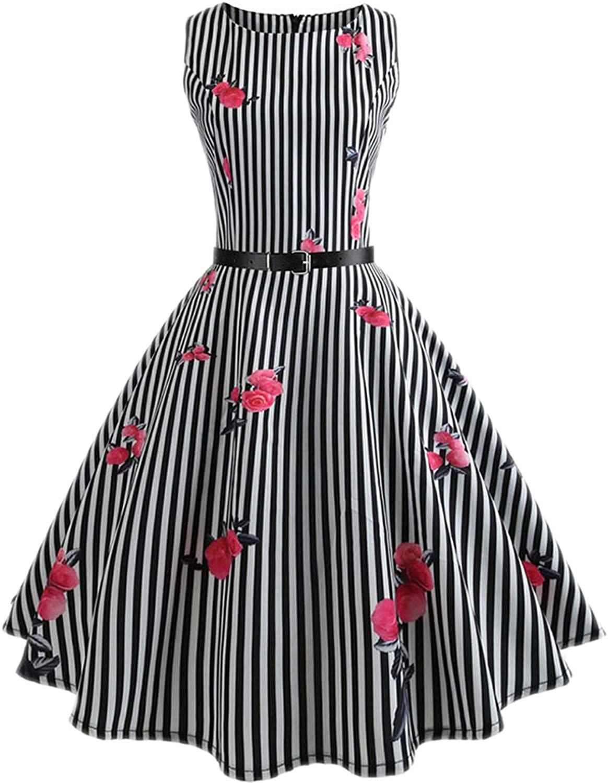 Summer Dress Women Vintage Elegant Swing Party Dresses Plus Size Midi Tunic Runway Dress