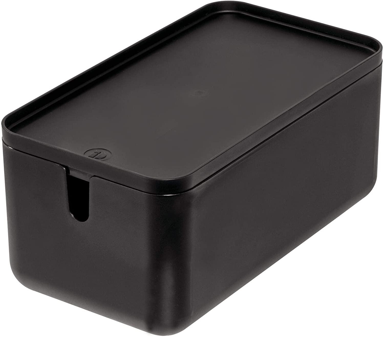 iDesign Cade BPA-Free Plastic Toilet Paper Storage Bin with Lid, 11.88