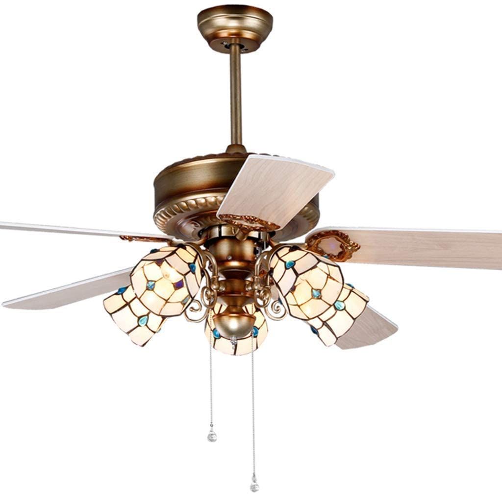 Creative Fan Pendent Light The Parlour Lamp with v Led Remote Bedchamber Wooden Fan Blade Beautiful Home Memrown Lamp, BOSSLV, Brown, 10665cm