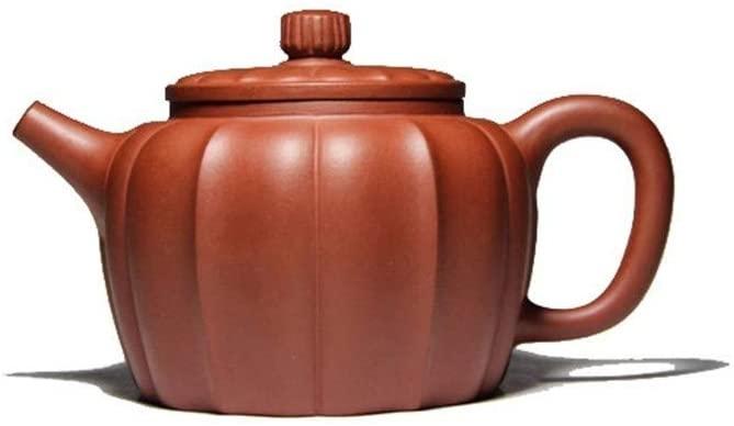 QinMei Zhou Teapot curb rib pattern teapot travel tea (Color : Purple mud)