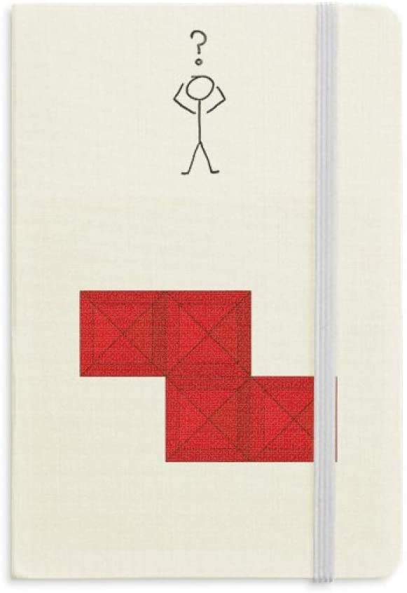 Classic Games Tetris Red Block Question Notebook Classic Journal Diary A5