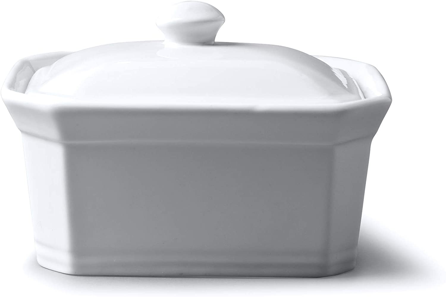 WM Bartleet & Sons 1750 T153 Butter/Terrine Dish with Lid, White
