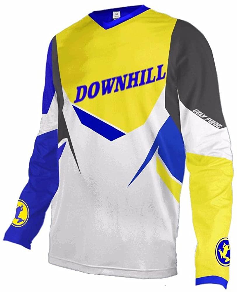 Uglyfrog #11 Designs Downhill Jersey MTB Jersey Mens Bike Wear Short Sleeve Tops Rage Cycling/Motocross Clothes MTB Shirt