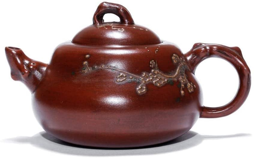 QinMei Zhou teapot hoist reflux old pot pot teapot 380 ml simulated mass old old pot brewing tea (Color : Purple mud)