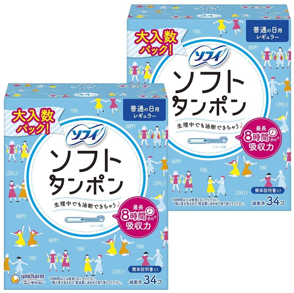 [Buying] Sophie soft tampons regular amount of normal daily 34 co-input × 2-pack (unicharm Sofy)