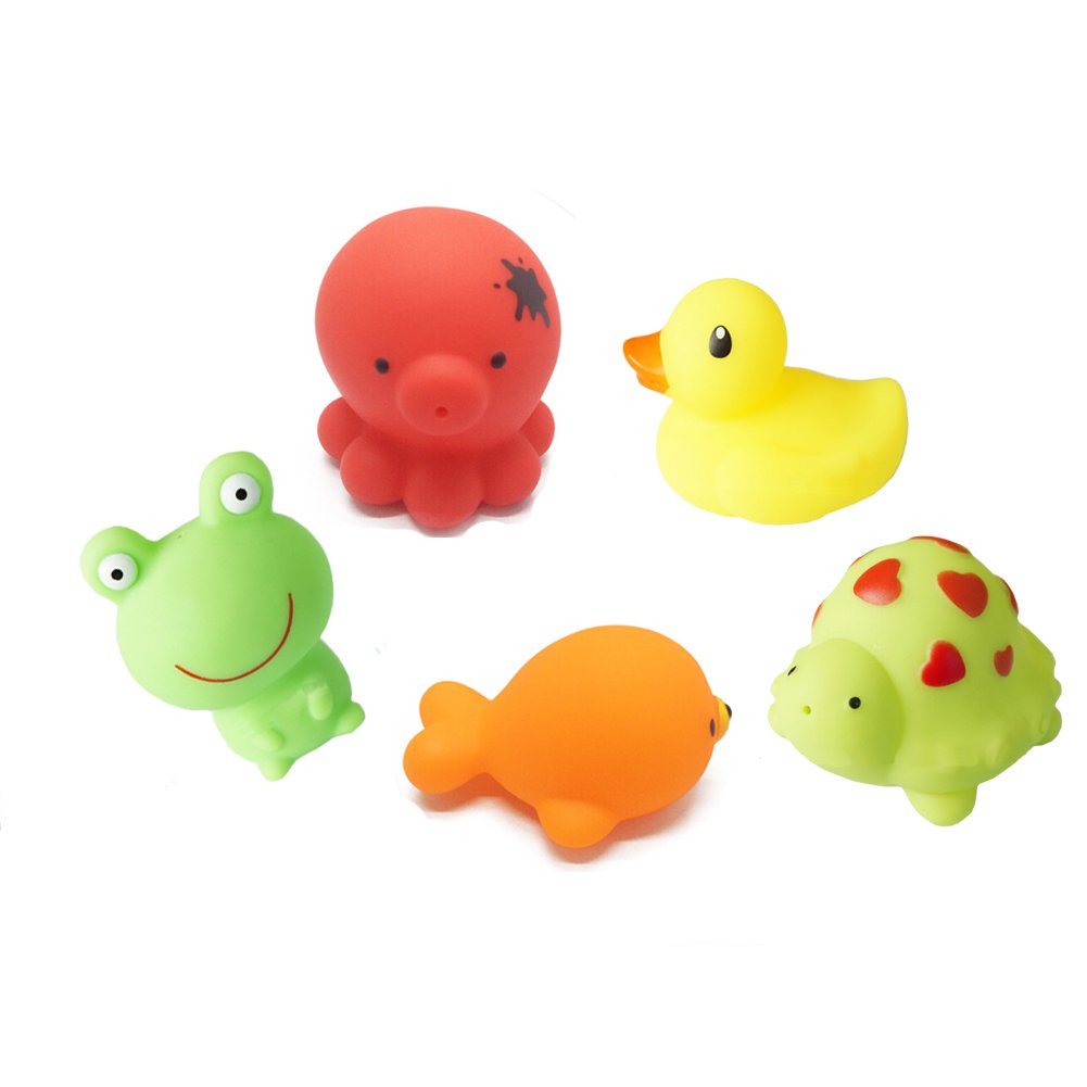 Ziyier Squirtin Bath Toy, Barnyard Friends in 5 pcs