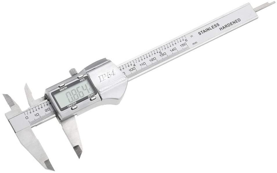 LL-LL LCD Digital Caliper, 0-150mm High Accuracy IP54 LCD Digital Vernier Caliper Micrometer Gauge Measuring Tool Gauge Digital Caliper Calipers