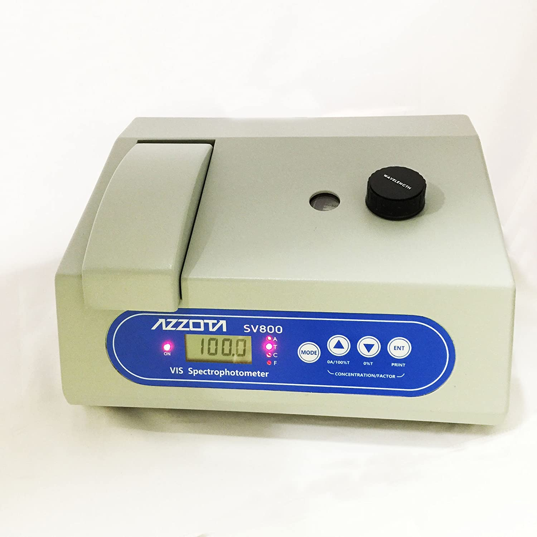 Azzota Digital Education SV800 Visible VIS Spectrophotometer, 6nm, tube or cuvettes, 330-1000nm