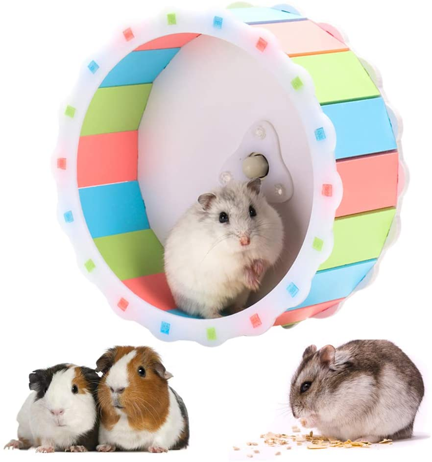 S_HomeStore Silent Hamster Exercise Wheel, 6.7'' Quiet Running Wheel for Hamsters, Gerbils, Mice and Other Small Pets