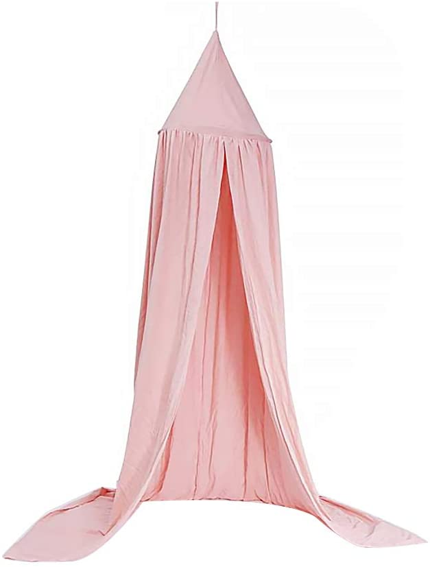 DOMIRE Pink Children Bed Canopy Round Dome Cotton Mosquito Net Bed Canopies Kids Play Tent Bedroom Decoration(1pc)