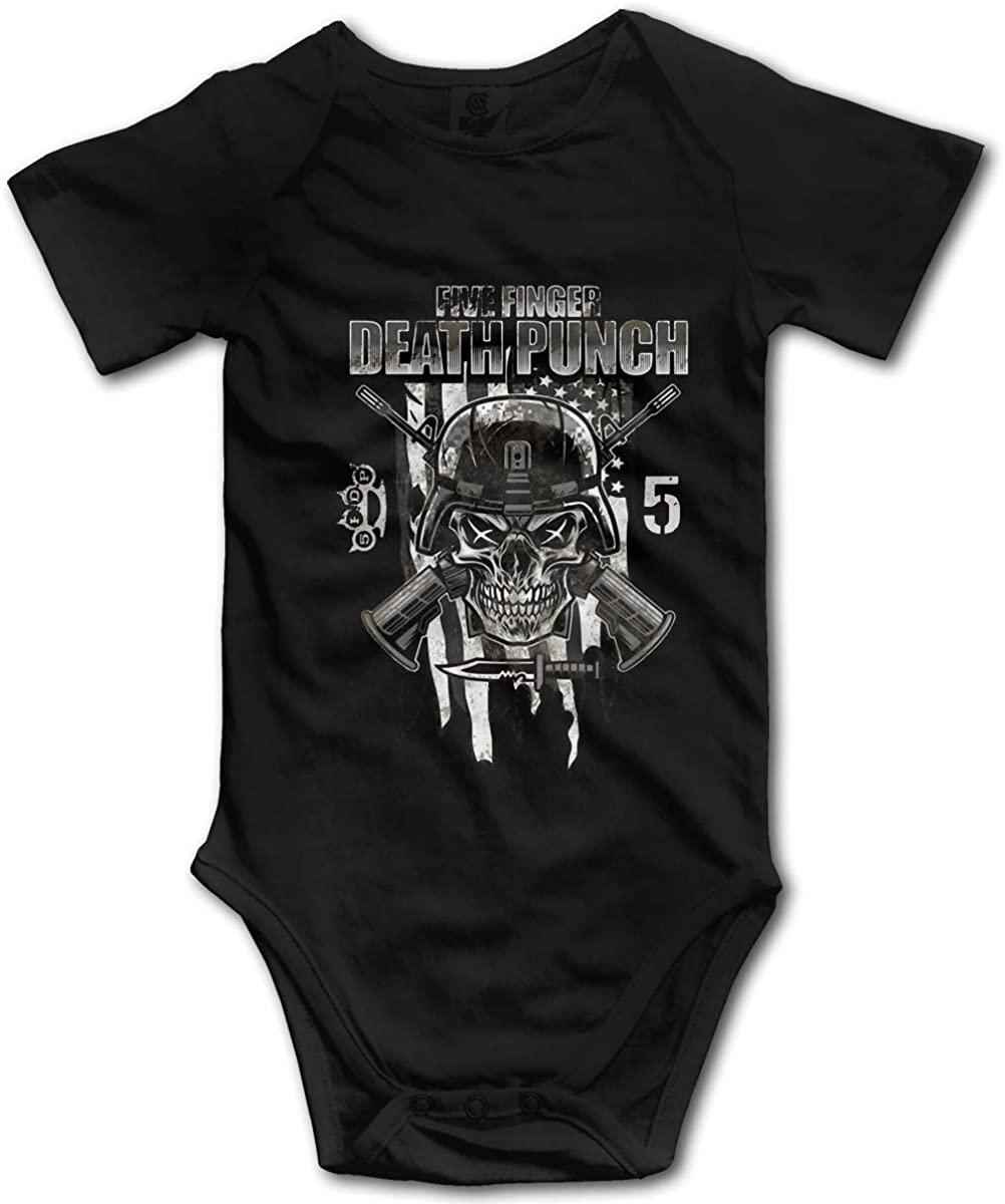 HaroldWolf Five Finger Death Punch Baby Onesies Baby Boys Baby Boys' Short Sleeve Romper