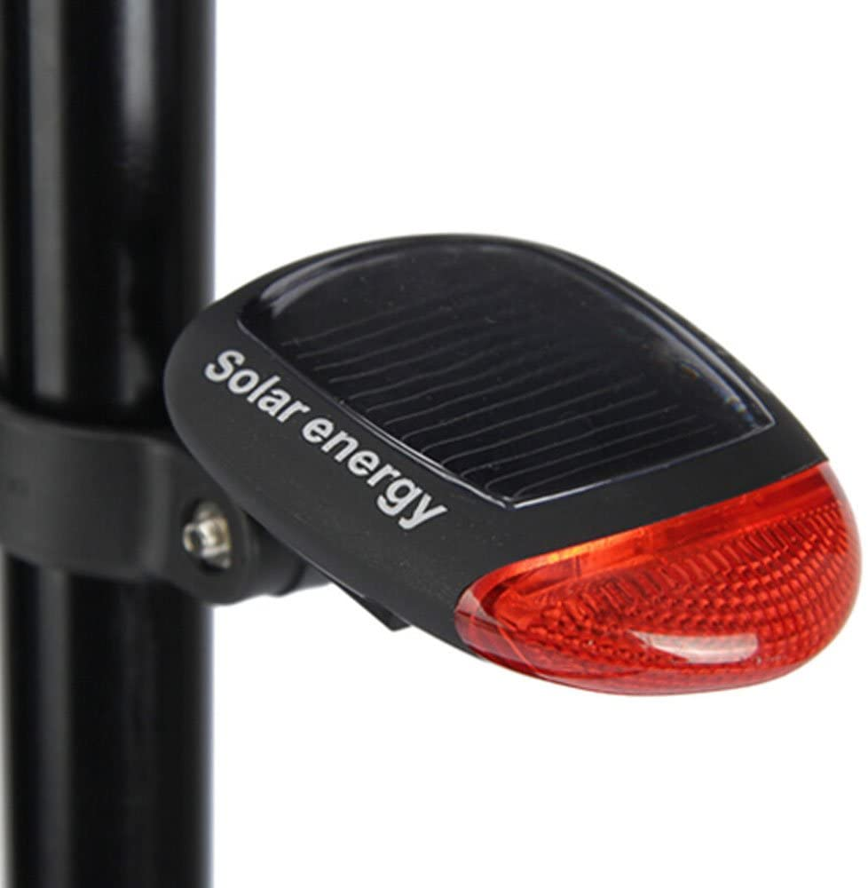 Mercery Solar Power Bike taillight Super Bright Bicycle lamp LED Cycling Tail Waterproof Red Rear Lamp Water Resistant Cycling LED Taillight Safety Easy Installation Tail-lamp