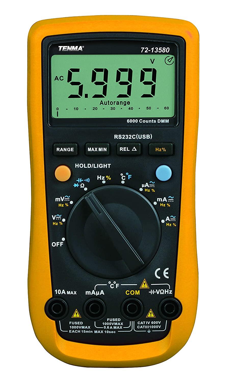 TENMA - 72-13580 - Digital MULTIMETER, Mean Value, 10A, 1KV