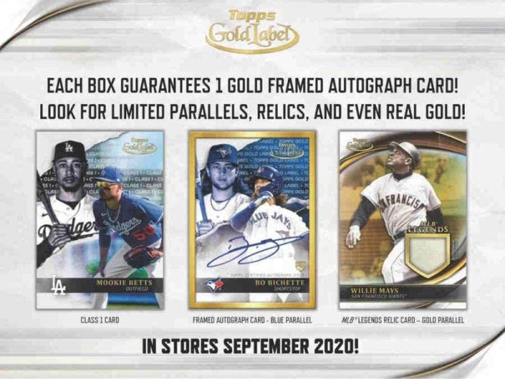 2020 Topps Gold Label Baseball Hobby Box (7 Packs/5 Cards: 1 Auto)