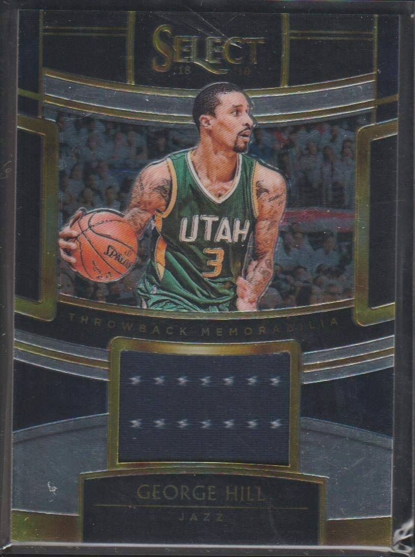 2018-19 Panini Select George Hill Jazz Game Used Jersey Basketball Card #TM-GHL