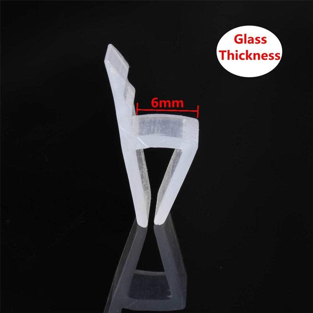 5M 6/8Mm Bath Shower Screen Door Sealing Strip for Glass Thickness Seal Door Window Glass Fixture Accessories-6Mm