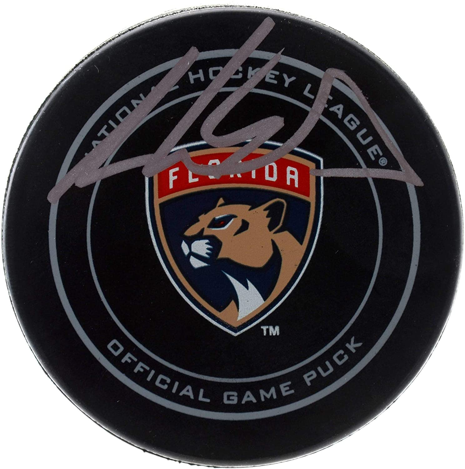 Aaron Ekblad Florida Panthers Autographed Official Game Puck - Fanatics Authentic Certified - Autographed NHL Pucks