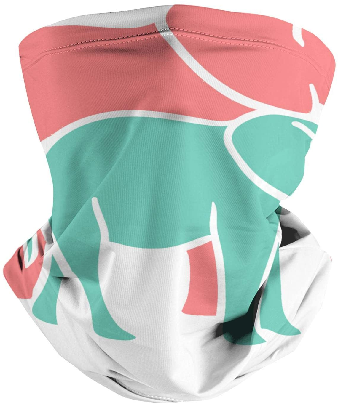 LHSCVUFASC Elephant Shape Ornament Dust Neck Face Cover Bandanas Scarf Cover Gaiter Fishing Protection Headband