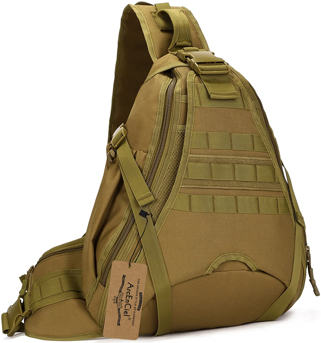 ArcEnCiel Tactical Sling Pack Military Molle Chest Crossbody Shoulder Bags Motorcycle Bicycle Assault Range Diaper Backpack