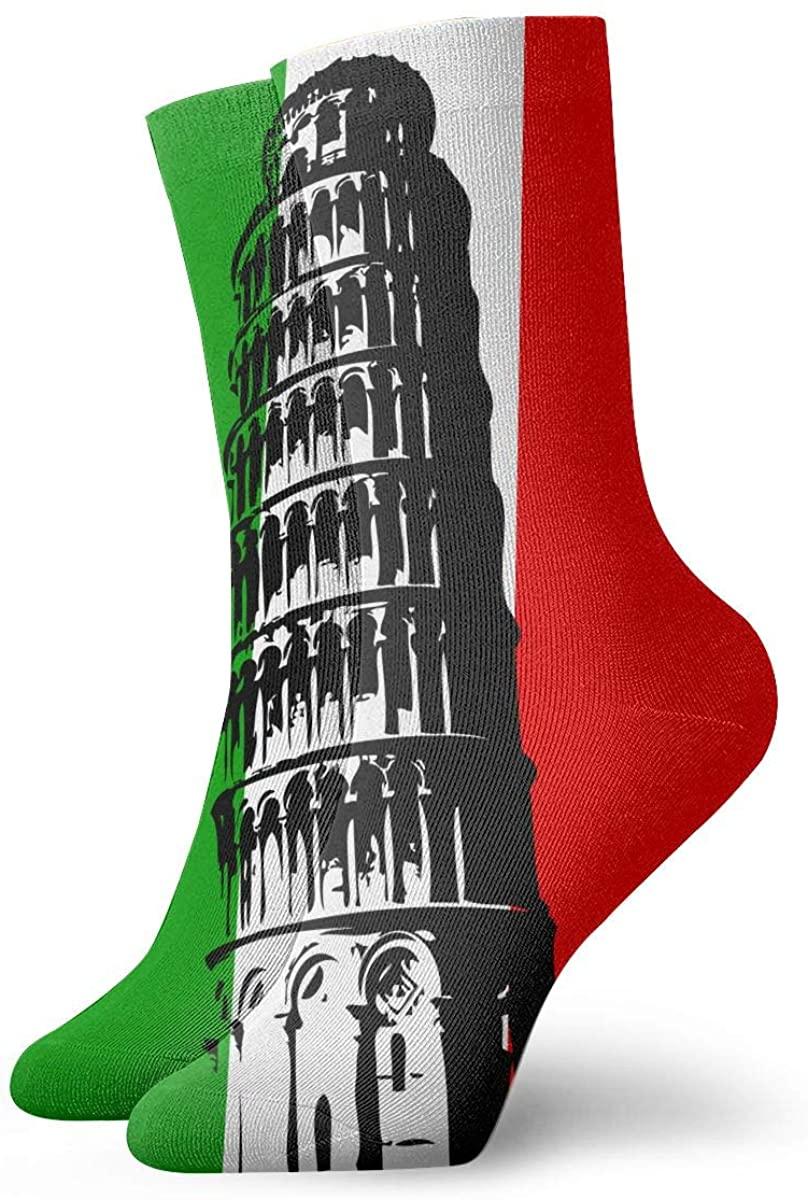 Field Rain Leaning Tower Of Pisa, Italy Unisex Casual Stockings Sport Athletic Crew Socks