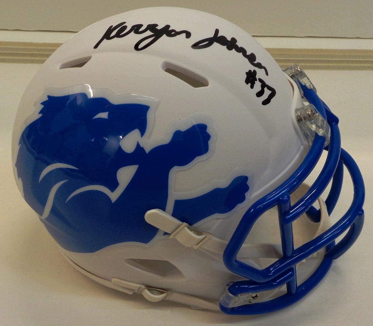 Kerryon Johnson Autographed Detroit Lions AMP Mini Helmet - Autographed NFL Mini Helmets