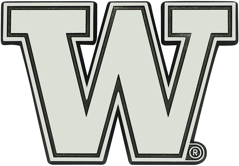 FANMATS NCAA Washington Huskies University of Washingtonchrome Emblem, Team Color, One Size